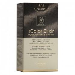 Apivita My Color Elixir Μόνιμη Βαφή Μαλλιών No 6.18 Ξανθό Σκούρο Σαντρέ Περλέ