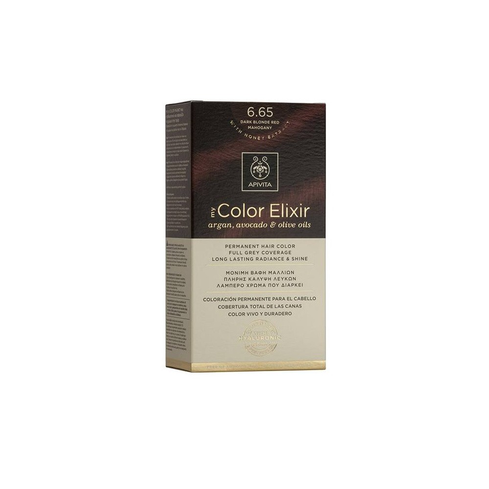 Apivita My Color Elixir Μόνιμη Βαφή Μαλλιών  Έντονο Κόκκινο 6.65  1τμχ