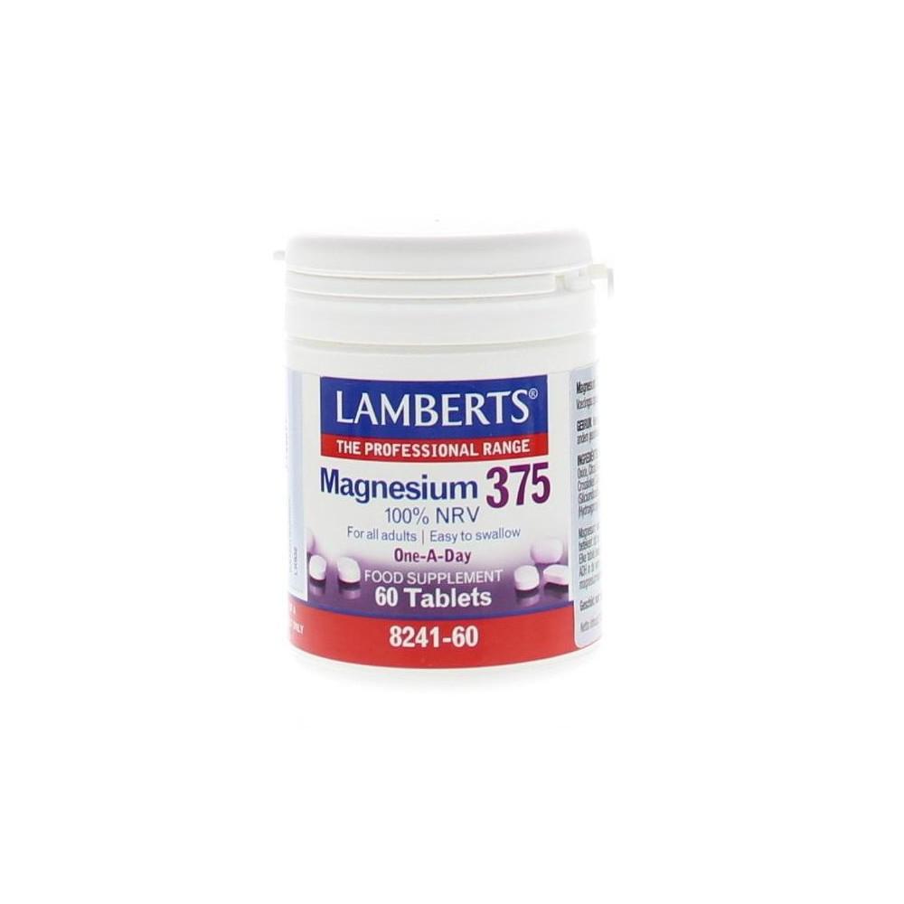 Lamberts Magnesium 375 100% NRV 60tabs