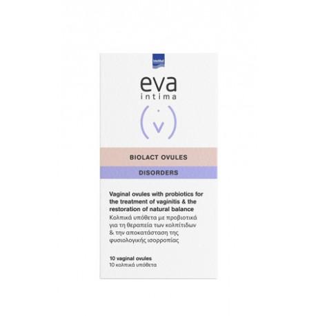Intermed Eva Intima Biolact Ovules κατά της Κολπίτιδας 10 Κολπικά Υπόθετα