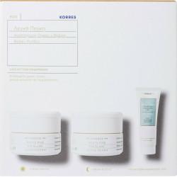 Korres Σετ Δώρου Λευκή Πεύκη με Κρέμα Ημέρας, 40ml & Κρέμα Νύχτας, 40ml & Τσάι του Ολύμπου Γαλάκτωμα Καθαρισμού