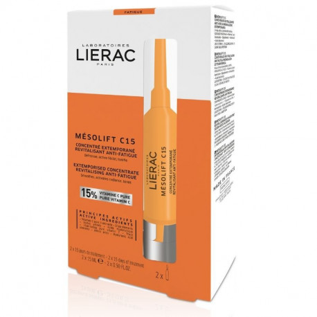Lierac Mesolift C15 Λειαίνει-Ενεργοποιεί τη Λάμψη Βελτιώνει την Όψη της Επιδερμίδας 2x15ml