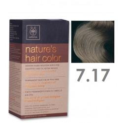 Apivita Nature's Hair Color 7.17 Ξανθο Σαντρε Μπεζ