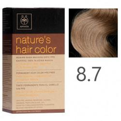 Apivita Nature's Hair Color 8.7 Ξανθό Ανοιχτό Μπέζ