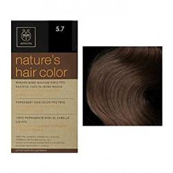 Apivita Nature's Hair Color 5.7 Καστανό Ανοικτό Μπεζ