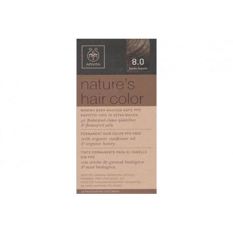 Apivita Nature's Hair Color 8.0 Ξανθό Ανοιχτό