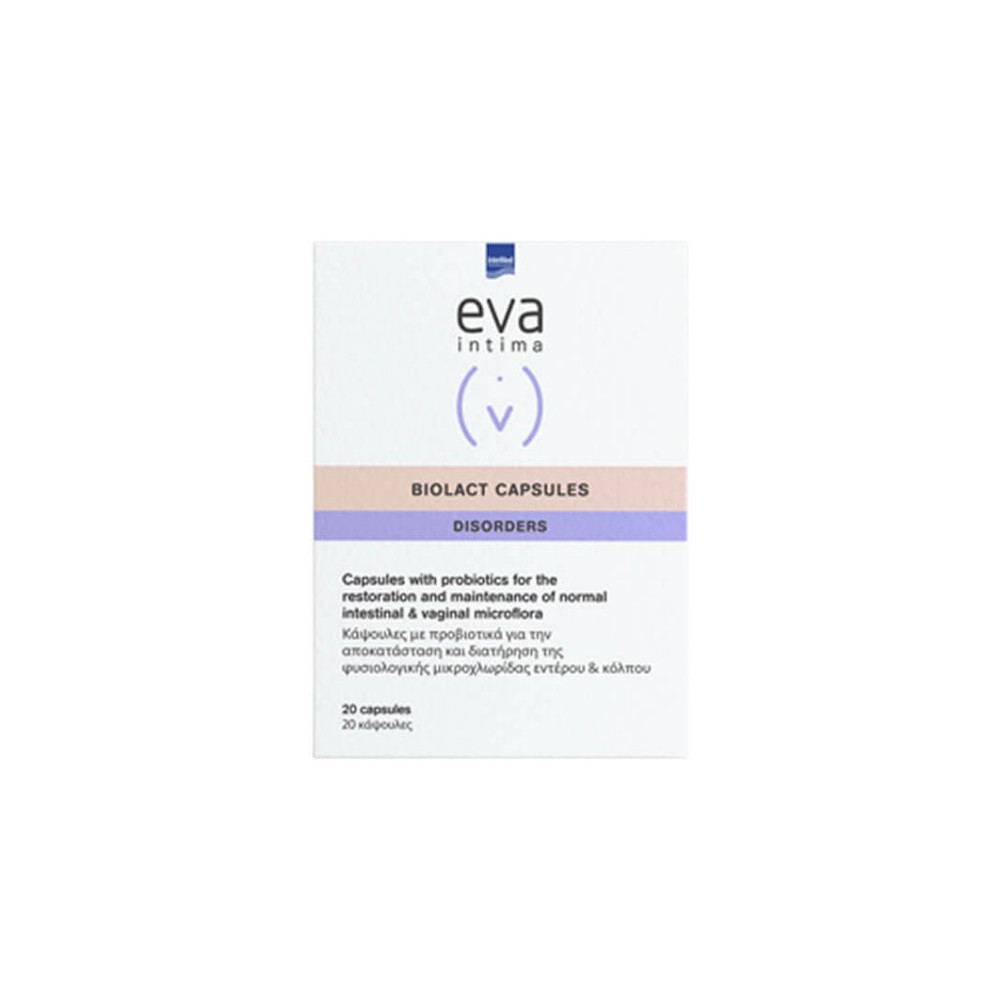 Intermed Eva Intima Biolact Capsules Προβιοτικά για την Εντερική & Κολπική Χλωρίδα 20caps
