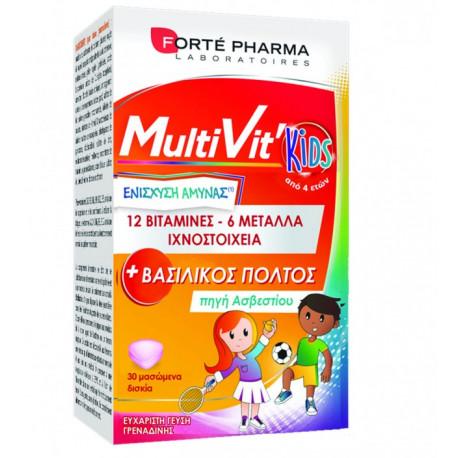 Forte Pharma MultiVit Kids Βιταμίνες 30 δισκία
