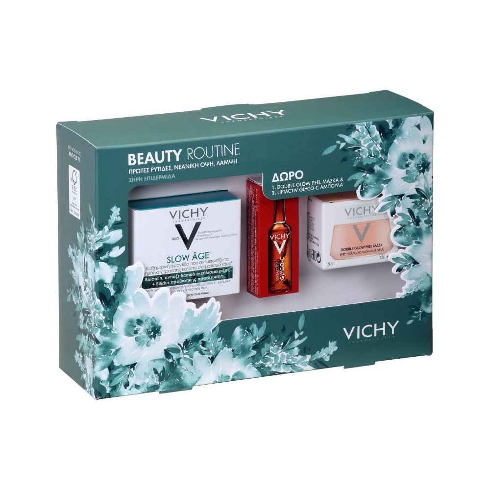 Vichy Beauty Routine σετ Slow Age Cream SPF30 50ml & Masque Glow Peel Mask 75ml & Liftactiv Glyco-C Night Peel 2ml