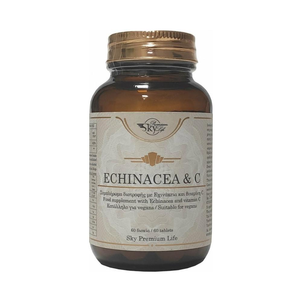 Sky Premium Life Echinacea & Vitamin C 60 Δισκία