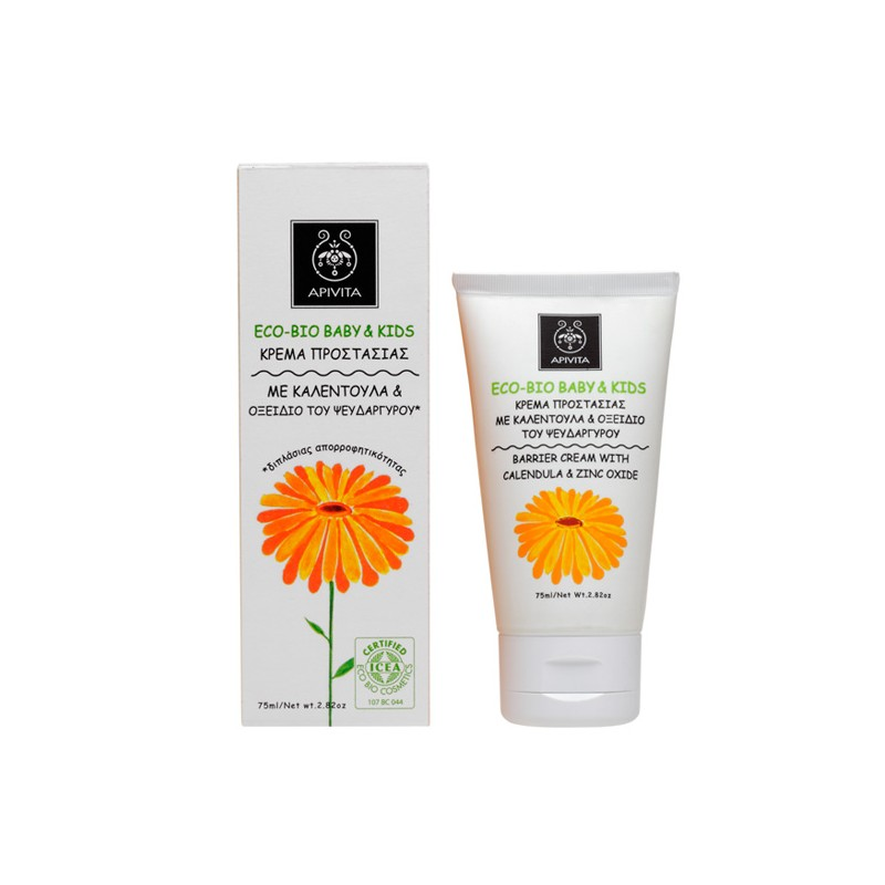 APIVITA - ECO BIO BABY KIDS Barrier Cream with calendula & zinc oxide