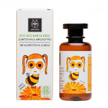 APIVITA - ECO BIO BABY KIDS Hair & Body Wash with calendula & honey